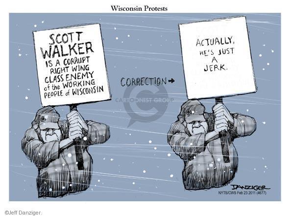 Cartoonist Jeff Danziger  Jeff Danziger's Editorial Cartoons 2011-02-23 walker