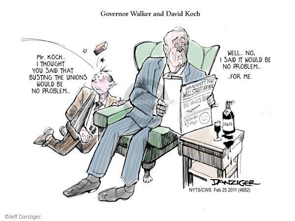 Cartoonist Jeff Danziger  Jeff Danziger's Editorial Cartoons 2011-02-25 walker