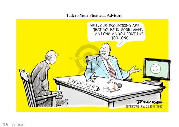 Cartoonist Jeff Danziger  Jeff Danziger's Editorial Cartoons 2011-02-25 retirement