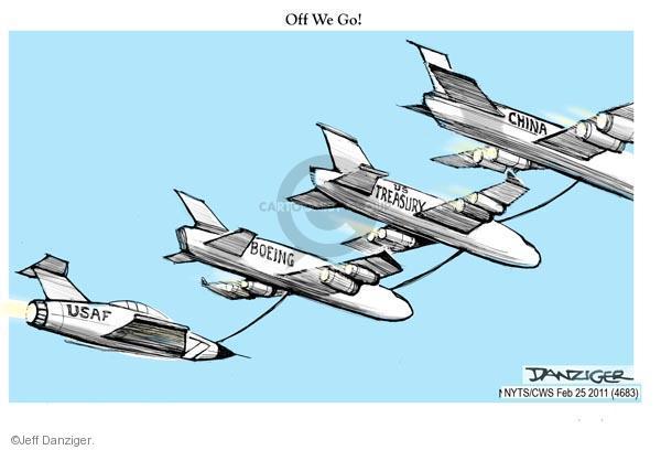 Cartoonist Jeff Danziger  Jeff Danziger's Editorial Cartoons 2011-02-25 United States Air Force
