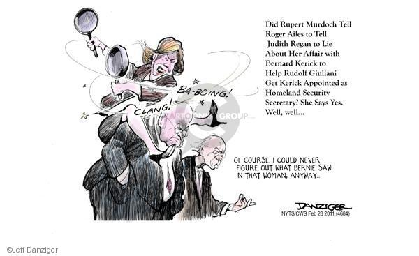 Jeff Danziger  Jeff Danziger's Editorial Cartoons 2011-02-28 political credibility