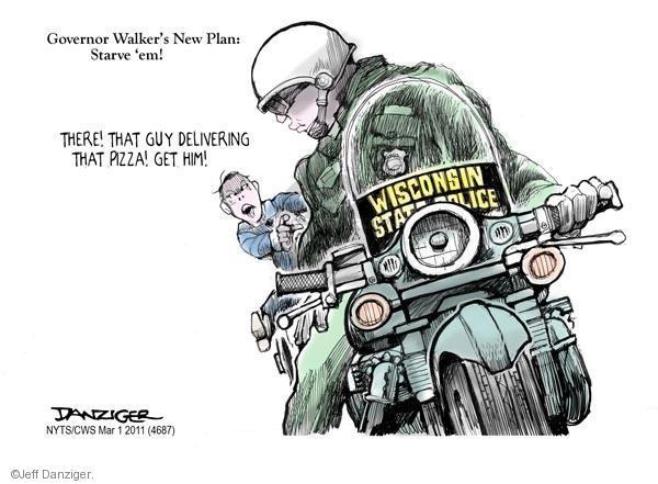Cartoonist Jeff Danziger  Jeff Danziger's Editorial Cartoons 2011-03-01 walker