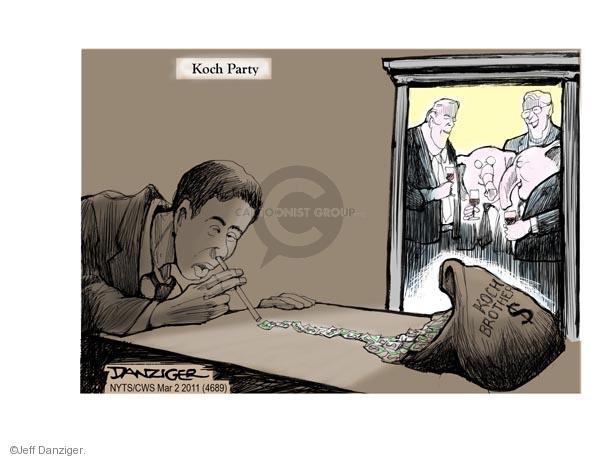 Cartoonist Jeff Danziger  Jeff Danziger's Editorial Cartoons 2011-03-02 party