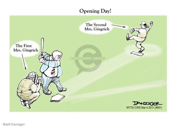 Cartoonist Jeff Danziger  Jeff Danziger's Editorial Cartoons 2011-03-04 speaker