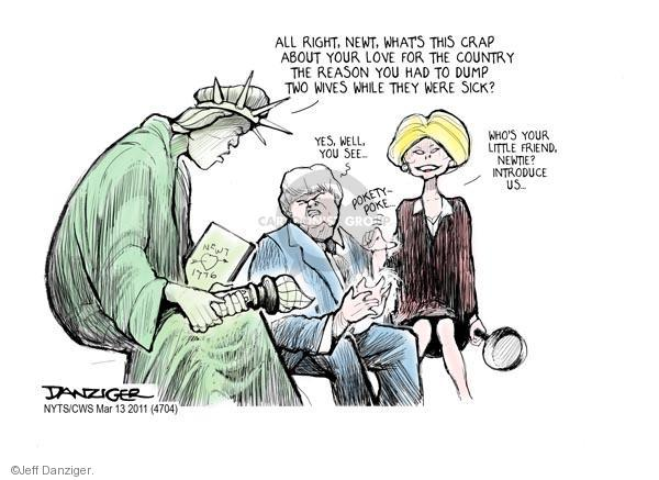 Cartoonist Jeff Danziger  Jeff Danziger's Editorial Cartoons 2011-03-13 patriotism