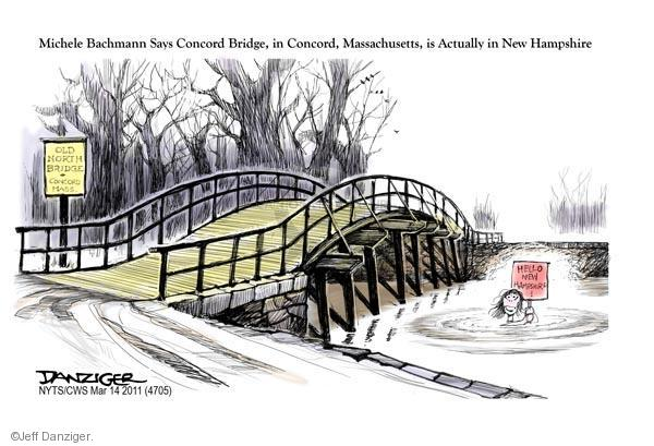 Cartoonist Jeff Danziger  Jeff Danziger's Editorial Cartoons 2011-03-14 Michele Bachmann