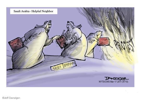 Cartoonist Jeff Danziger  Jeff Danziger's Editorial Cartoons 2011-03-17 gasoline