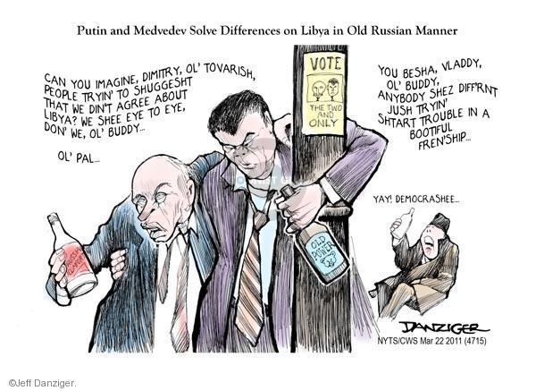 Jeff Danziger  Jeff Danziger's Editorial Cartoons 2011-03-22 Dmitry Medvedev