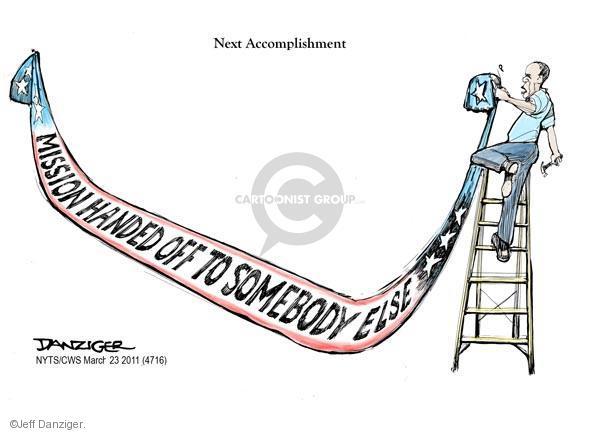 Cartoonist Jeff Danziger  Jeff Danziger's Editorial Cartoons 2011-03-23 NATO