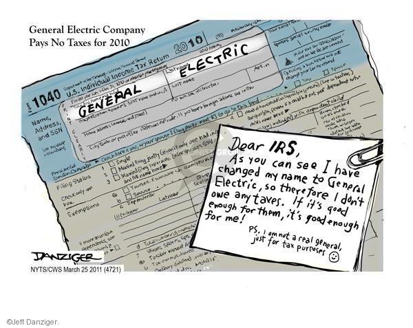 Jeff Danziger  Jeff Danziger's Editorial Cartoons 2011-03-25 tax payment