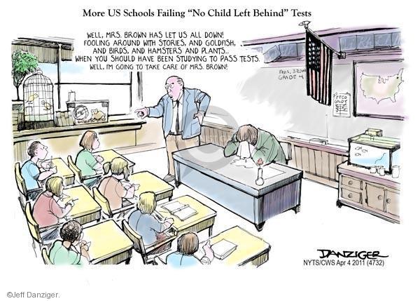 Cartoonist Jeff Danziger  Jeff Danziger's Editorial Cartoons 2011-04-04 high school teacher