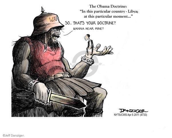 Cartoonist Jeff Danziger  Jeff Danziger's Editorial Cartoons 2011-04-05 event