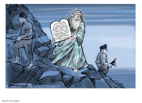 Cartoonist Jeff Danziger  Jeff Danziger's Editorial Cartoons 2011-04-06 Israel