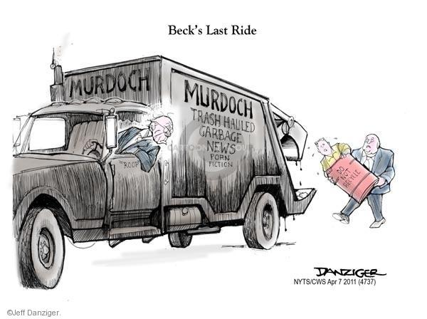 Cartoonist Jeff Danziger  Jeff Danziger's Editorial Cartoons 2011-04-07 garbage