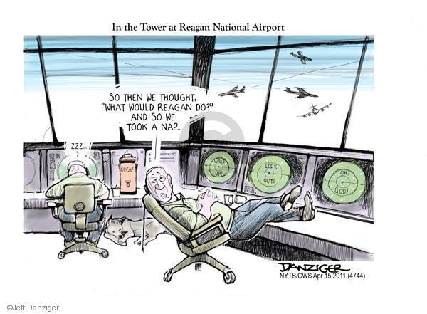 Cartoonist Jeff Danziger  Jeff Danziger's Editorial Cartoons 2011-04-15 tower