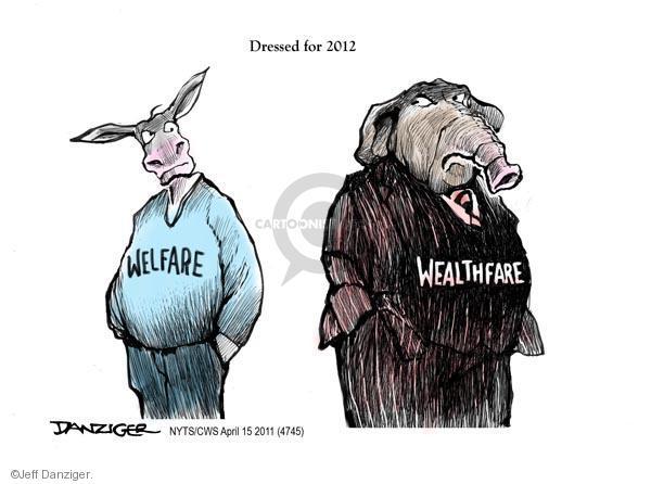 Cartoonist Jeff Danziger  Jeff Danziger's Editorial Cartoons 2011-04-15 big government