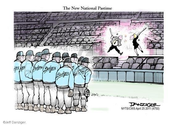 The new national pastime.  Dodgers.
