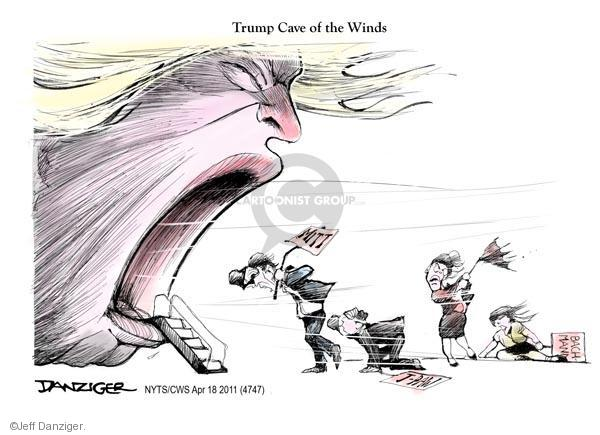 Jeff Danziger  Jeff Danziger's Editorial Cartoons 2011-04-18 Donald Trump Sarah Palin
