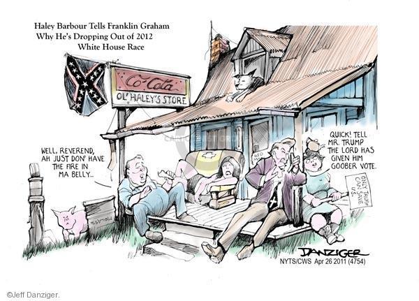 Cartoonist Jeff Danziger  Jeff Danziger's Editorial Cartoons 2011-04-26 Haley Barbour