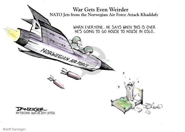 Cartoonist Jeff Danziger  Jeff Danziger's Editorial Cartoons 2011-04-26 bomb