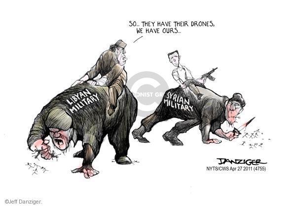 Cartoonist Jeff Danziger  Jeff Danziger's Editorial Cartoons 2011-04-27 support