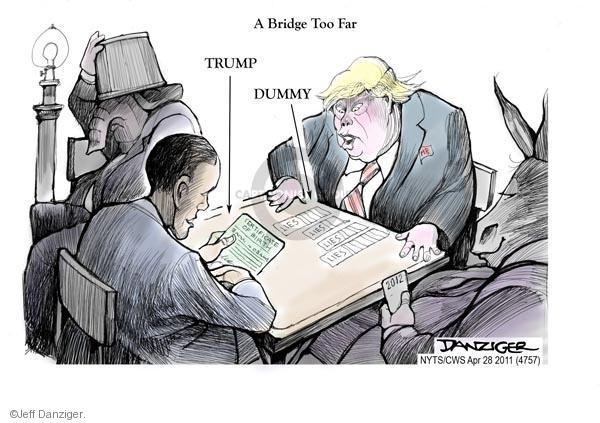 Cartoonist Jeff Danziger  Jeff Danziger's Editorial Cartoons 2011-04-28 playing card