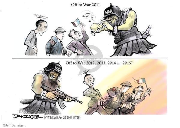 Jeff Danziger  Jeff Danziger's Editorial Cartoons 2011-04-29 military strategy