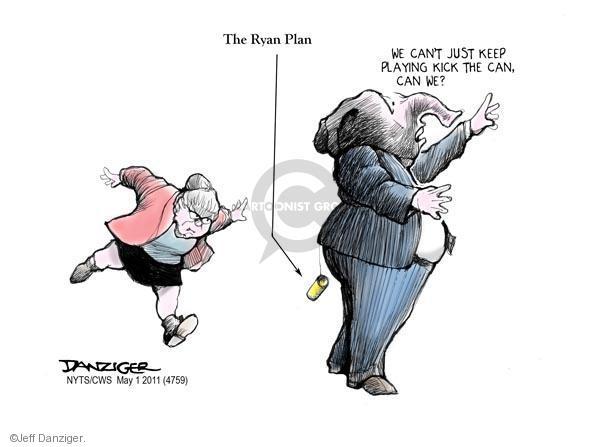 Cartoonist Jeff Danziger  Jeff Danziger's Editorial Cartoons 2011-05-01 kick