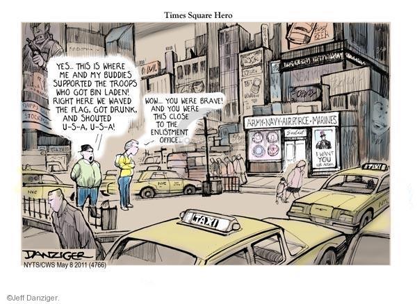 Cartoonist Jeff Danziger  Jeff Danziger's Editorial Cartoons 2011-05-08 Air Force