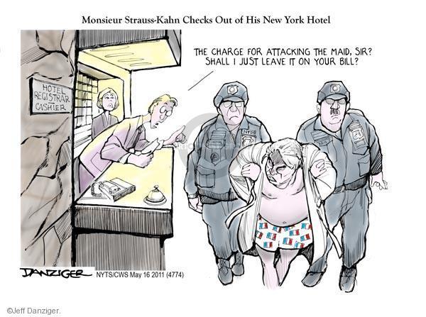 Cartoonist Jeff Danziger  Jeff Danziger's Editorial Cartoons 2011-05-16 International Monetary Fund