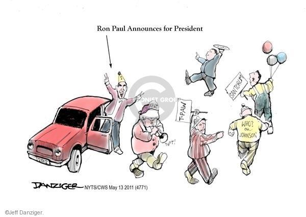 Cartoonist Jeff Danziger  Jeff Danziger's Editorial Cartoons 2011-05-13 former president