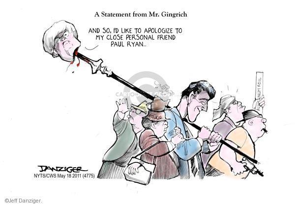 Cartoonist Jeff Danziger  Jeff Danziger's Editorial Cartoons 2011-05-18 congressman