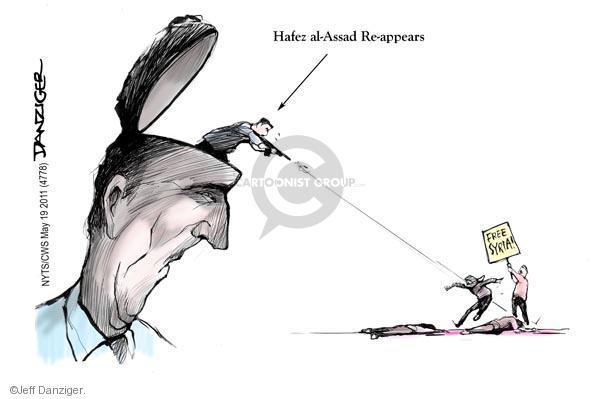Cartoonist Jeff Danziger  Jeff Danziger's Editorial Cartoons 2011-05-19 former president