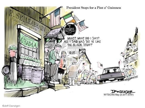 Cartoonist Jeff Danziger  Jeff Danziger's Editorial Cartoons 2011-05-23 Ireland