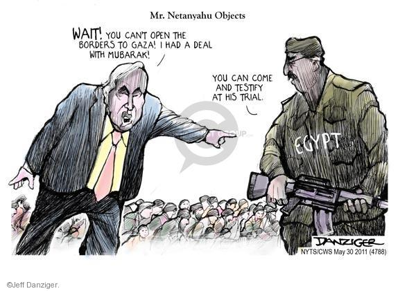 Cartoonist Jeff Danziger  Jeff Danziger's Editorial Cartoons 2011-05-30 Israel Palestine