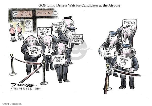 Cartoonist Jeff Danziger  Jeff Danziger's Editorial Cartoons 2011-06-05 Michele Bachmann