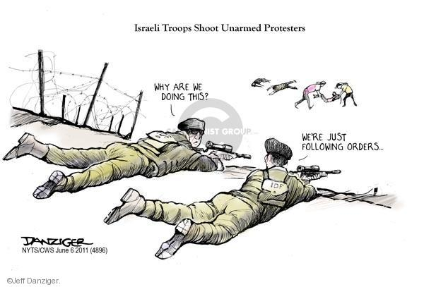 Cartoonist Jeff Danziger  Jeff Danziger's Editorial Cartoons 2011-06-06 Israel Palestine