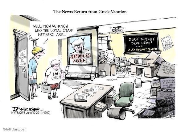 Cartoonist Jeff Danziger  Jeff Danziger's Editorial Cartoons 2011-06-10 speaker