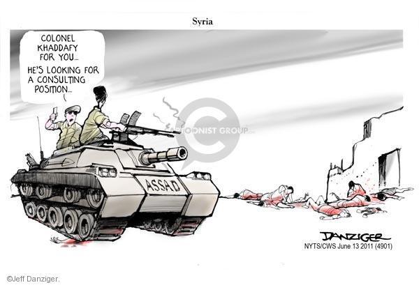 Cartoonist Jeff Danziger  Jeff Danziger's Editorial Cartoons 2011-06-13 position