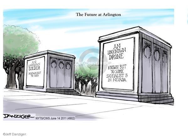 Cartoonist Jeff Danziger  Jeff Danziger's Editorial Cartoons 2011-06-14 casualty