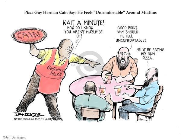 Cartoonist Jeff Danziger  Jeff Danziger's Editorial Cartoons 2011-06-15 prejudice