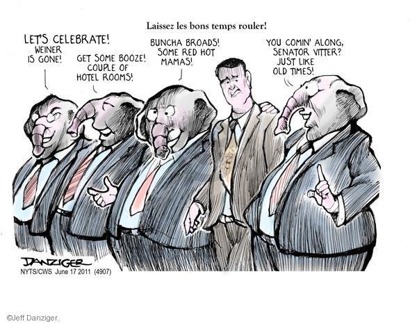 Cartoonist Jeff Danziger  Jeff Danziger's Editorial Cartoons 2011-06-17 congressman