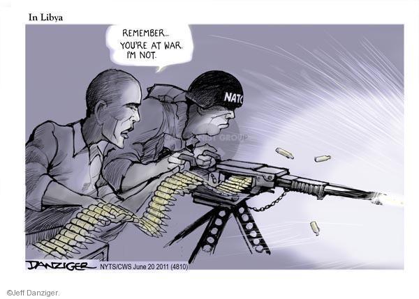 Cartoonist Jeff Danziger  Jeff Danziger's Editorial Cartoons 2011-06-20 NATO