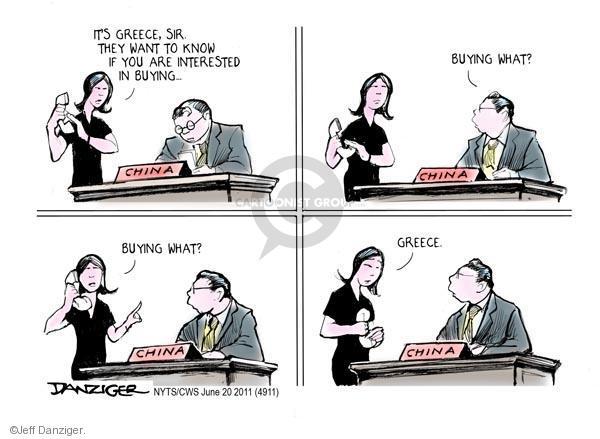 Jeff Danziger  Jeff Danziger's Editorial Cartoons 2011-06-20 office