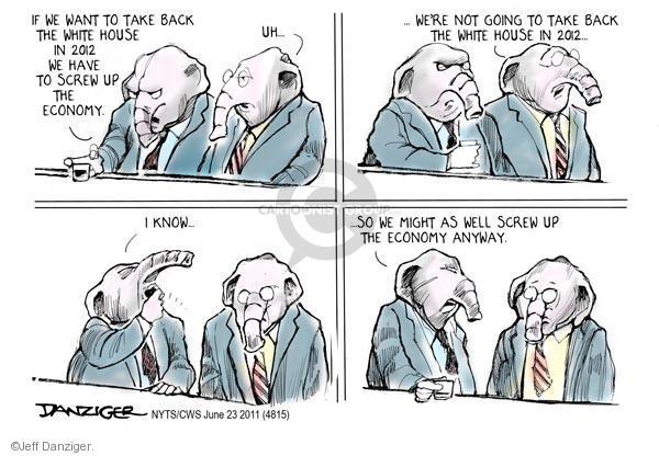 Jeff Danziger  Jeff Danziger's Editorial Cartoons 2011-06-23 2012 election economy