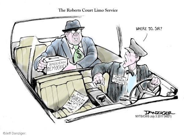 Cartoonist Jeff Danziger  Jeff Danziger's Editorial Cartoons 2011-07-03 legal
