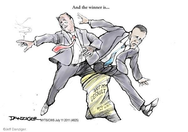 Cartoonist Jeff Danziger  Jeff Danziger's Editorial Cartoons 2011-07-11 federal debt