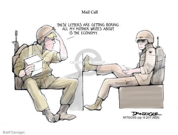 Cartoonist Jeff Danziger  Jeff Danziger's Editorial Cartoons 2011-07-14 letter