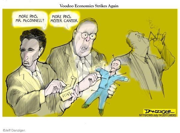 Cartoonist Jeff Danziger  Jeff Danziger's Editorial Cartoons 2011-07-14 impasse