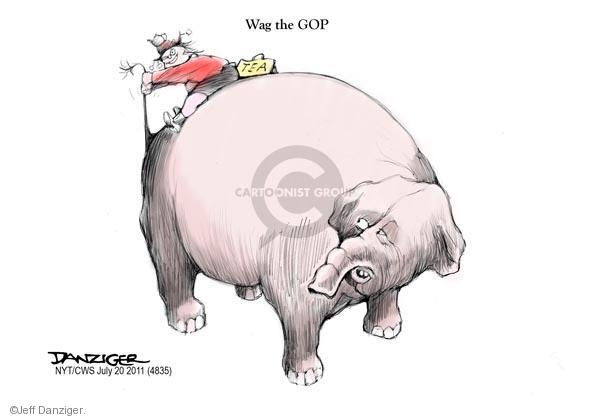 Jeff Danziger  Jeff Danziger's Editorial Cartoons 2011-07-20 distraction